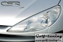 Peugeot 206 98-06 Реснички на фары