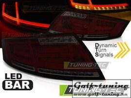 Audi TT 06-14 Фонари с дизайном Ligthbar светодиодные, красно-тонированные
