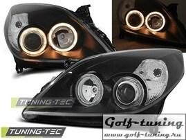 Opel Vectra C 05-08 Фары Angel eyes черные