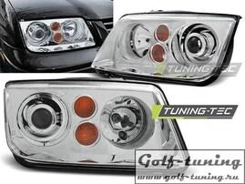 VW Bora Фары с линзами хром