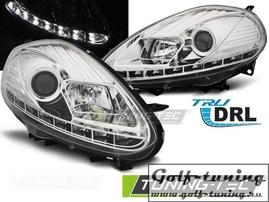 Fiat Punto EVO 09-12 Фары DRL LED хром