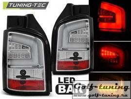 VW T5 03-09 Фонари светодиодные, хром Lighbar