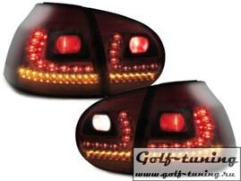 VW Golf 5 Фонари светодиодные, красно-тонированные R-Line style