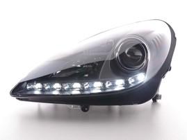 Mercedes R171 04-11 Фары Devil eyes, Dayline черные под ксенон