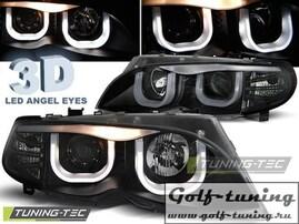 BMW E46 01-05 S/T Фары Angel Eyes 3D черные