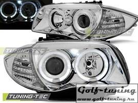 BMW E81/E82/E87/E88 04-11 Фары Angel Eyes хром