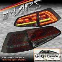 VW Golf 7 12-17 Фонари светодиодные, красно-тонированные