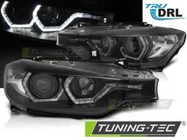 BMW F30/F31 11-15 Фары с светодиодными ангельскими глазками черные