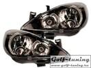 Peugeot 307 01-06 Фары с линзами и ангельскими глазками черные