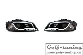 Audi A3 8P 08-12 Фары Lightbar design черные