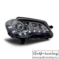 VW Touran GP 06-10 Фары Devil eyes, Dayline черные