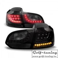 VW Golf 6 Фонари светодиодные, тонированные с светодиодным поворотником Urban Style