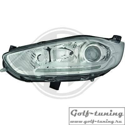 Ford Fiesta 12-17 Фары с линзами и LED дхо под галоген