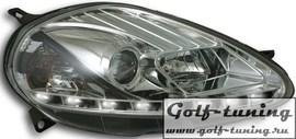 Fiat Punto 08-09 Фары Devil eyes, Dayline хром