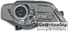 VW Passat B6 Фары Devil eyes, Dayline хром