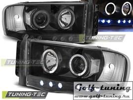 Dodge Ram 02-06 Фары Angel eyes черные