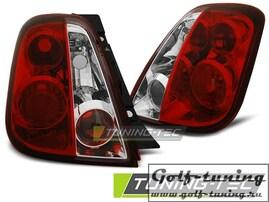 Fiat 500 07- Фонари красно-белые