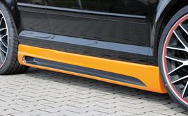 Audi A3 8P 03- 3Дв Накладки на пороги carbon look