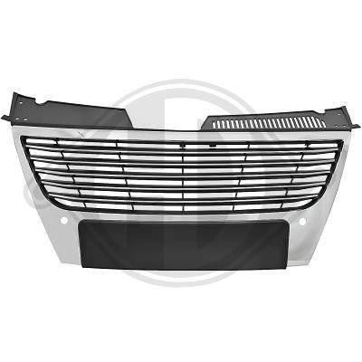 VW Passat B6 Решетка радиатора без значка с хром полосками