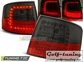 Audi A6 97-04 Универсал Фонари светодиодные, красно-тонированные