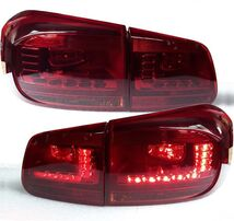 VW Tiguan 11-16 Фонари светодиодные, красно-тонированные