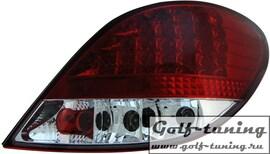 Peugeot 207 Фонари светодиодные, красно-белые