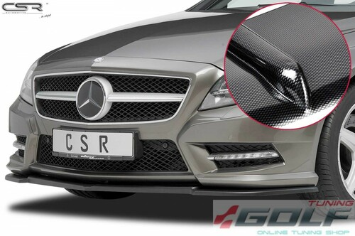 Mercedes CLS C218/W218 11-14 Накладка на передний бампер cupspoilerlippe carbon look