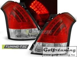 Suzuki Swift 04-10 Фонари светодиодные, красно-белые