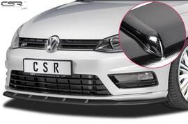 VW Golf 7 R-Line 12-17 Накладка на передний бампер Carbon look