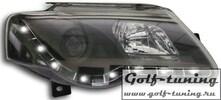 VW Passat B6 Фары Devil eyes, Dayline черные