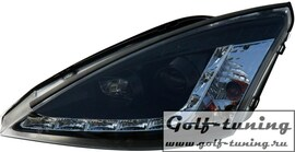 Ford Focus 01-04 Фары Devil eyes, Dayline черные