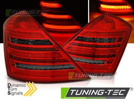 MERCEDES W221 05-09 Фонари красно-тонированные W222 LOOK с бегающим поворотником