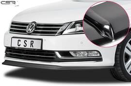 VW Passat B7 10-15 Накладка на передний бампер  Carbon look