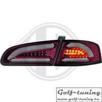 Seat Ibiza 6L 02-08 Фонари светодиодные, красно-тонированные
