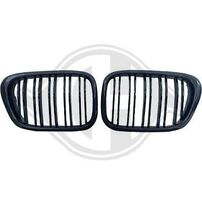 BMW E39 96-03 Решетки радиатора (ноздри) черные, глянцевые