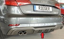 Audi A3 8V 3/5Дв Хэтчбек 16- Накладка на задний бампер/диффузор carbon look