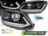 VW TOURAN II 10-15 Фары с бегающим поворотником tube light черные