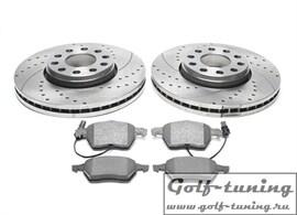 Skoda Superb/VW Passat 3B Комплект спортивных тормозных дисков и колодок