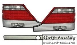 Mercedes W140 94-98 Фонари светодиодные, красно-белые