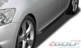 "Toyota Auris E150 07-12 Накладки на пороги ""Slim"""