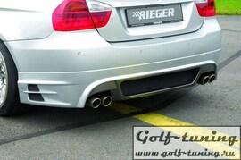 BMW E90/E91 04-11 Накладка на задний бампер Carbon Look
