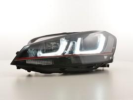 VW Golf 7 12-17 Фары GTI Look с красной полосой