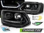 VW T5 GP 09-15 Фары tube light led с бегающим поворотником в стиле Т6 черные