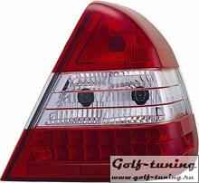 Mercedes W202 94-00 Фонари светодиодные, красно-белые