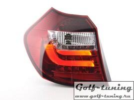 BMW E87 07-11 Фонари светодиодные, красно-белые Lightbar design