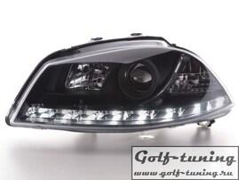 Seat Ibiza 6J 08- Фары Devil eyes, Dayline черные