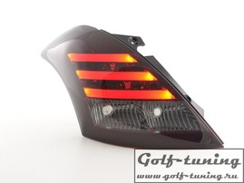 Suzuki Swift 11-13 Фонари светодиодные, красно-тонированные