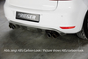 VW Golf 6 Диффузор для заднего бампера Carbon Look