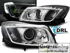 Opel Insignia 08-12 Фары с линзами хром
