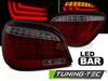 BMW E60 LCI 07-10 Фонари led bar красно-тонированные